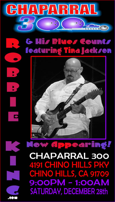 A Full Night of Hot Blues at Chaparral 300 in Chino Hills, CA
